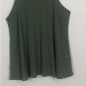 Free People Tops - Free People Olive Green Ribbed Tank Top (M)
